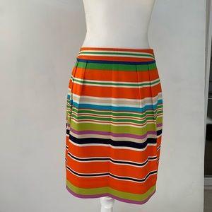 Kate Spade Multicolored Striped Pencil Skirt
